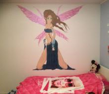 Fairy väggmålning