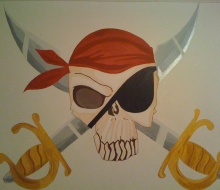 Pirat väggmålning