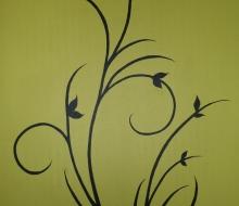 Väggmålning vardagsrum
